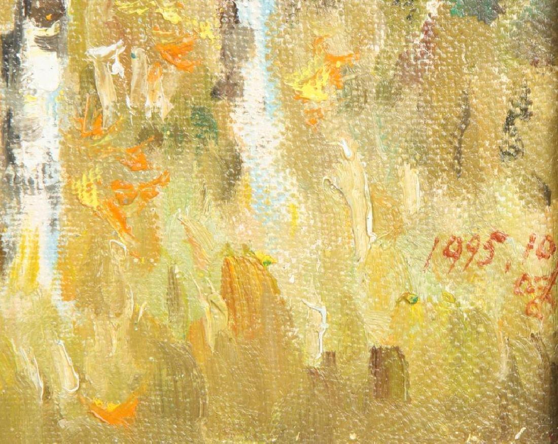 "AMERICAN SCHOOL (20th / 21st c) Landscape ""Birch Lined - 3"