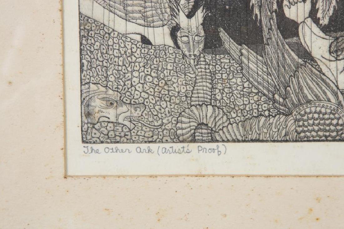"""AMERICAN SCHOOL (Mid-20th c) """"The Other Ark"""" etching 7 - 2"""