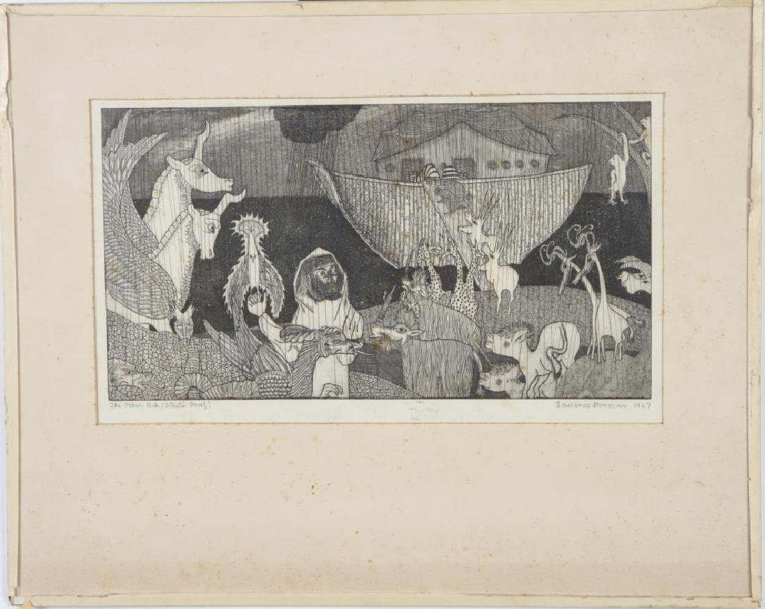 """AMERICAN SCHOOL (Mid-20th c) """"The Other Ark"""" etching 7 - 3"""