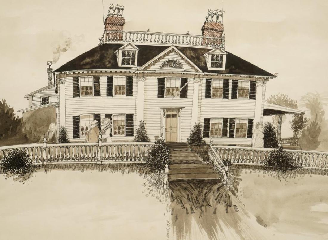 LONGFELLOW HOUSE CAMBRIDGE MA 1971-1981 Cartoon - 2