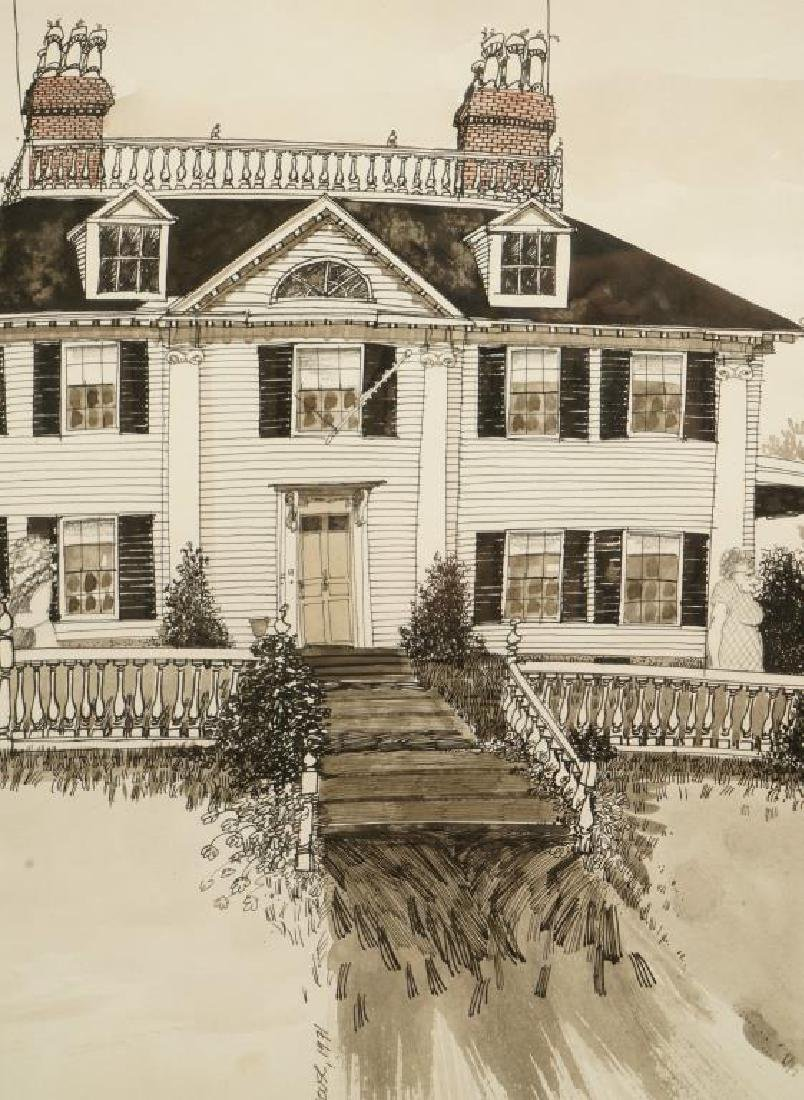 LONGFELLOW HOUSE CAMBRIDGE MA 1971-1981 Cartoon - 3