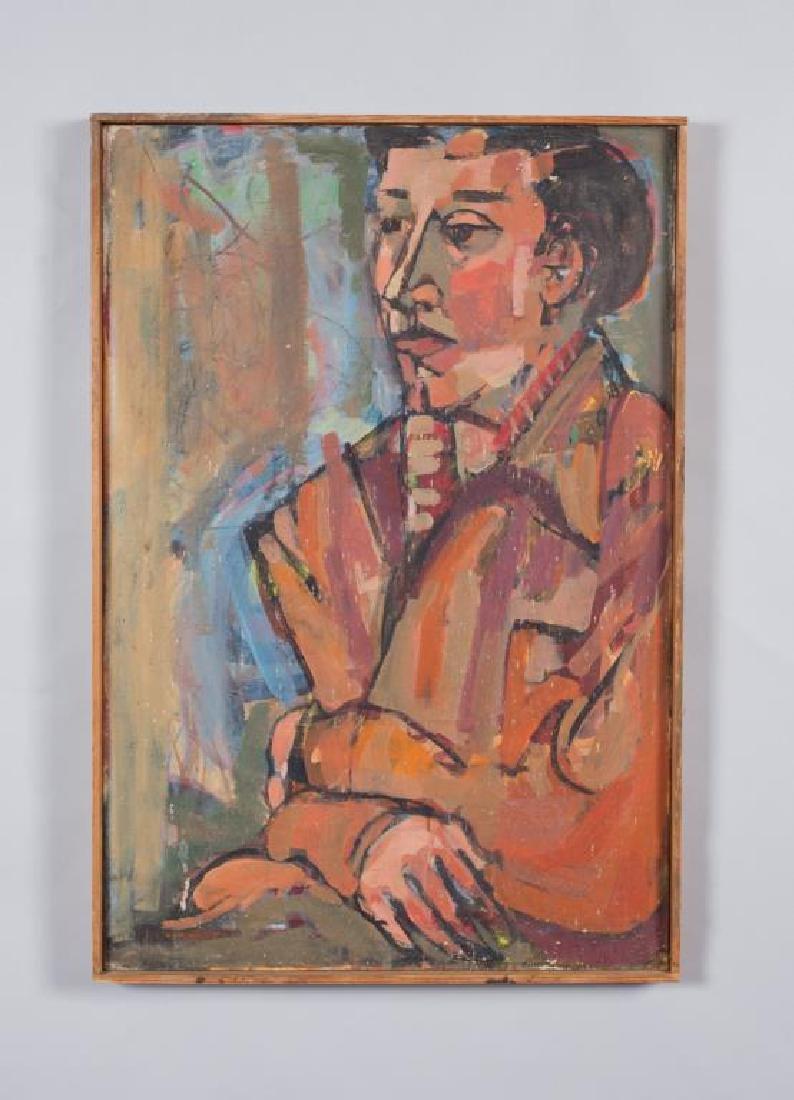 "MID CENTURY AMERICAN MODERNIST PORTRAIT ""Portrait of a"