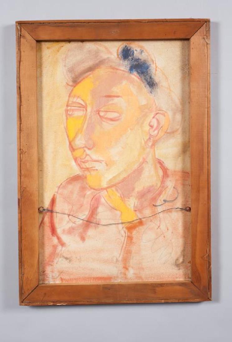 "MID CENTURY AMERICAN MODERNIST PORTRAIT ""Portrait of a - 2"