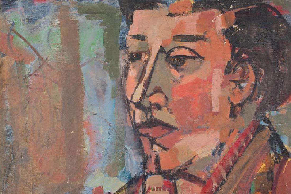 "MID CENTURY AMERICAN MODERNIST PORTRAIT ""Portrait of a - 4"