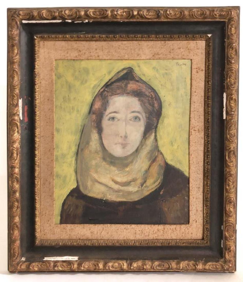 ARTHUR POLONSKY (B. 1925) Mid century portrait of a