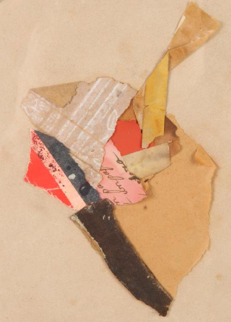 "KARL MANN (b. 1930) ""Composition"" collage 8 3/4 inches - 4"