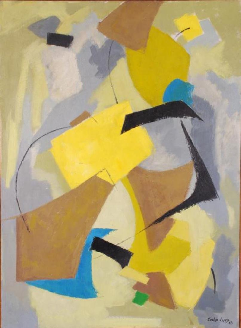 "AMERICAN SCHOOL (20th c) Abstraction ""Abstraction"" oil"