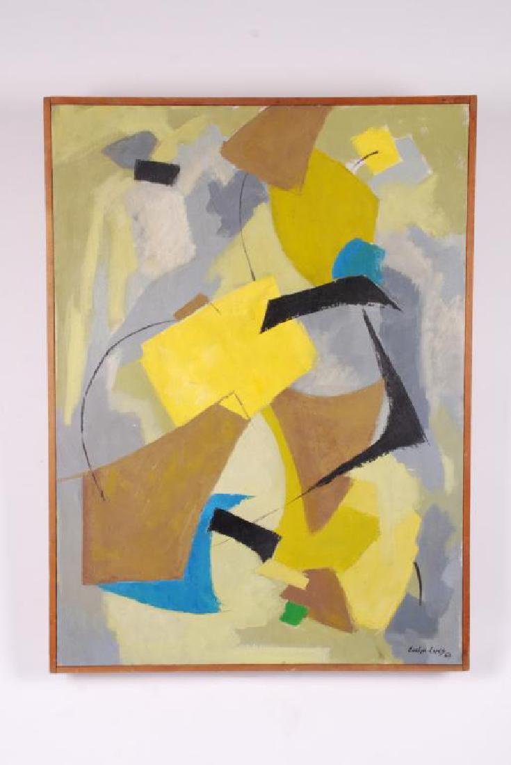 "AMERICAN SCHOOL (20th c) Abstraction ""Abstraction"" oil - 2"