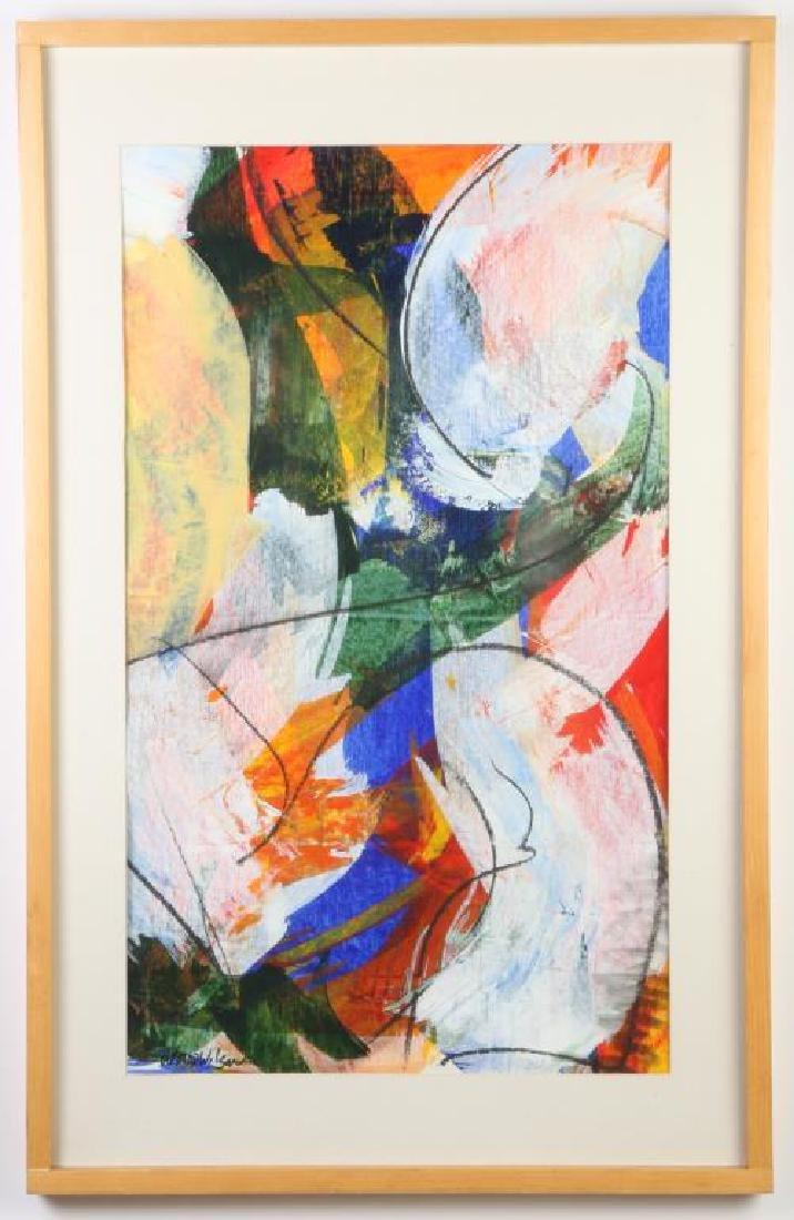 "WARD WILSON (20th / 21st c) ""Abstraction"" mixed media"
