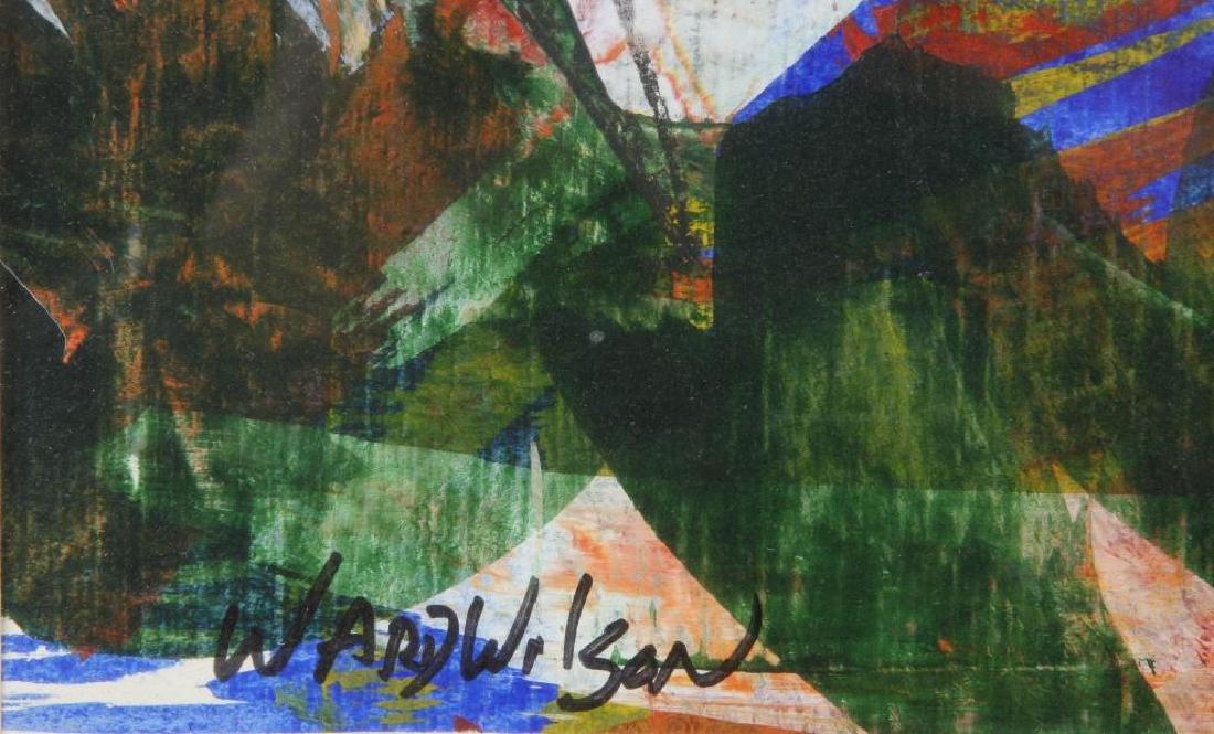 "WARD WILSON (20th / 21st c) ""Abstraction"" mixed media - 2"