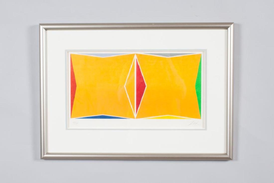 "LARRY ZOX (1937-2006) ""Abstraction"" silkscreen 9 1/4 x"