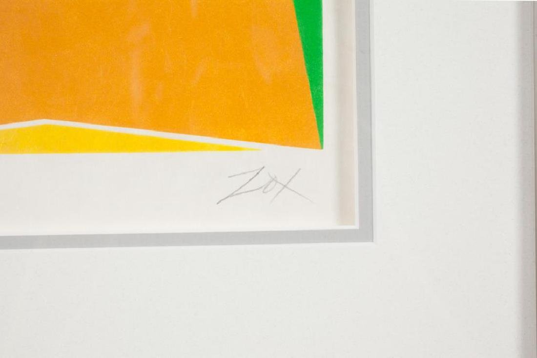 "LARRY ZOX (1937-2006) ""Abstraction"" silkscreen 9 1/4 x - 2"