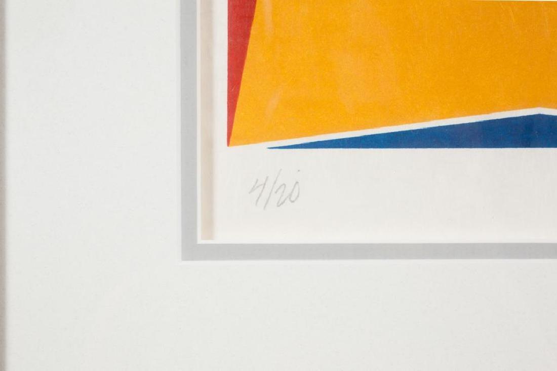 "LARRY ZOX (1937-2006) ""Abstraction"" silkscreen 9 1/4 x - 3"