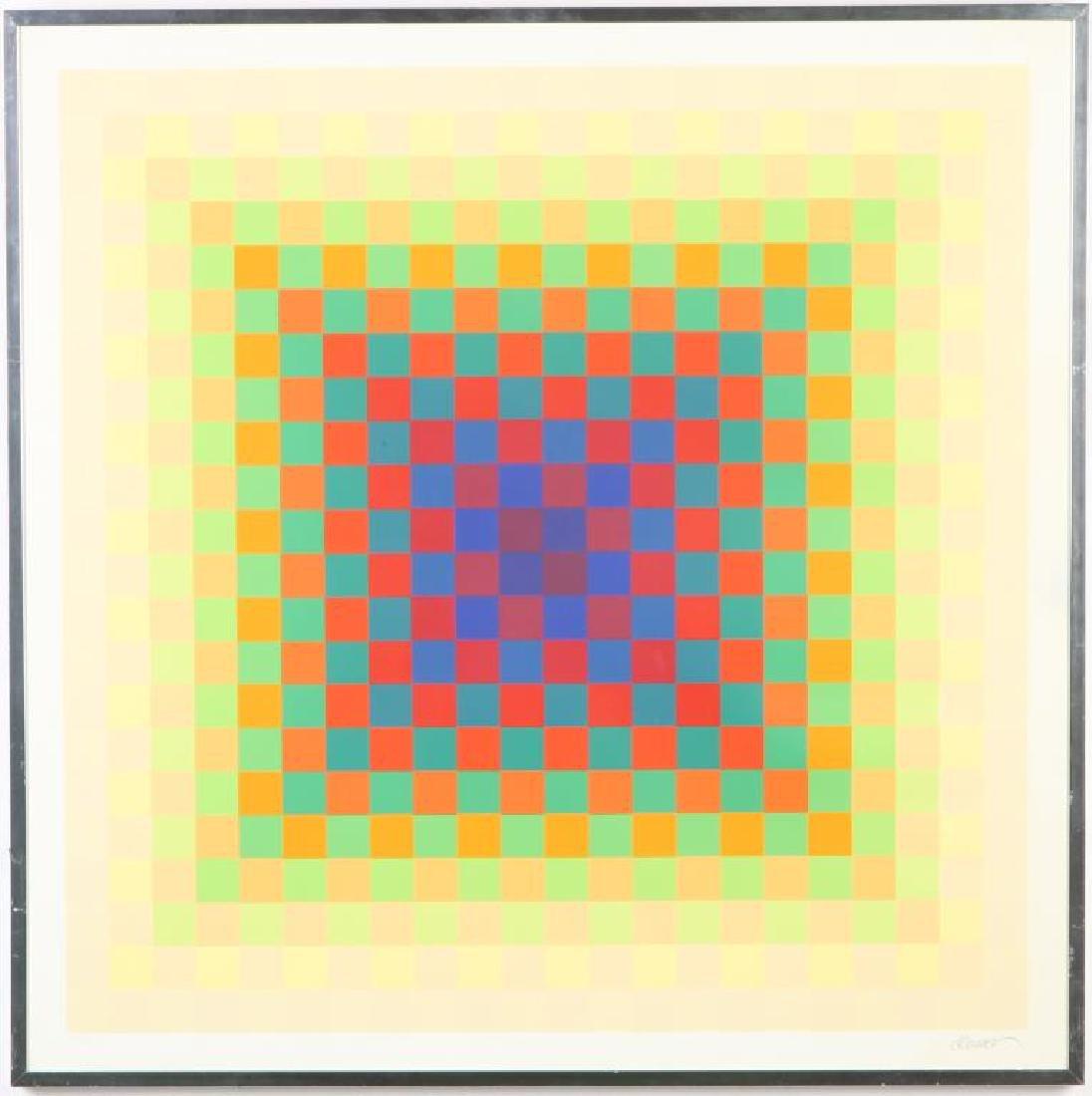 """HUGO DEMARCO (1932-1995) """"Composition"""" silkscreen in"""