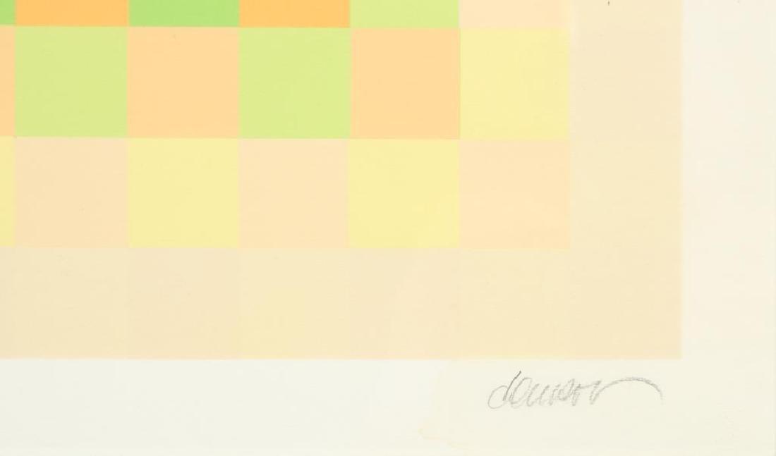 """HUGO DEMARCO (1932-1995) """"Composition"""" silkscreen in - 4"""