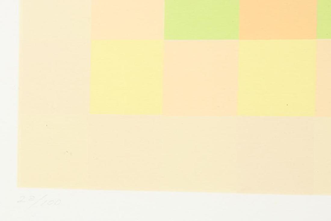 """HUGO DEMARCO (1932-1995) """"Composition"""" silkscreen in - 5"""