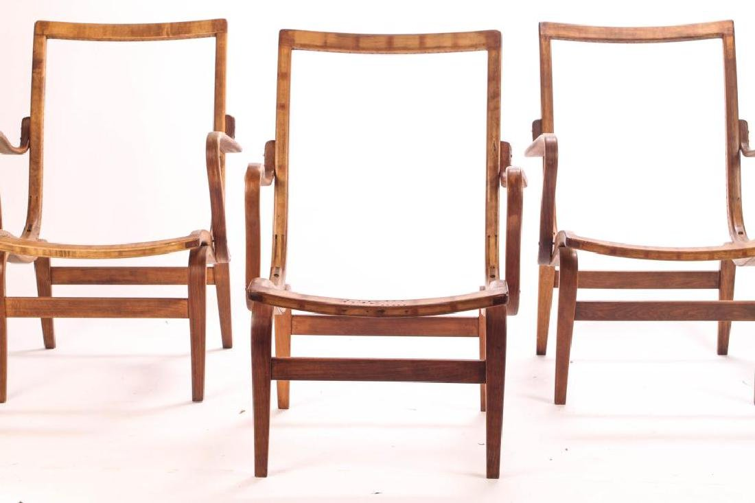 (3) BRUNO MATHSSON BENT WOOD CHAIRS Model 41 signed - 5
