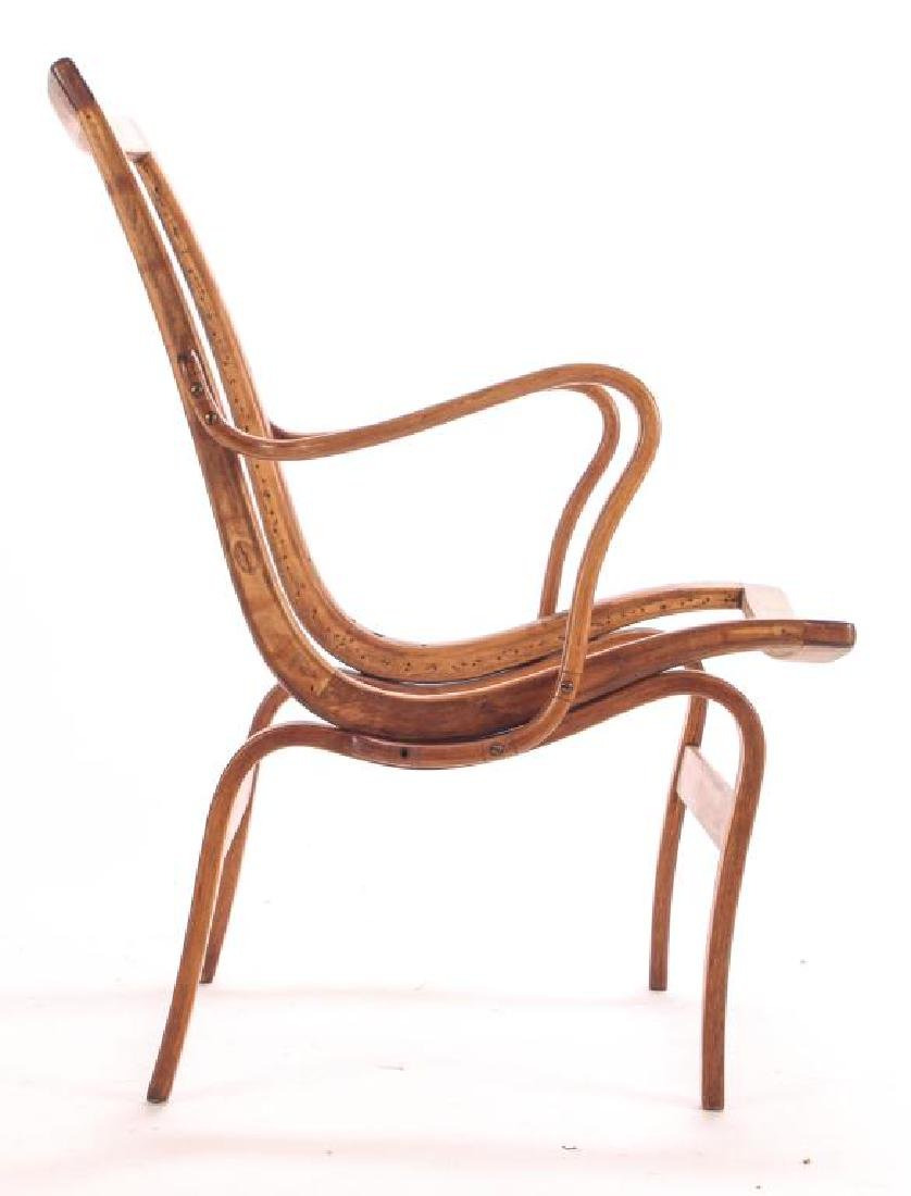 (3) BRUNO MATHSSON BENT WOOD CHAIRS Model 41 signed - 7