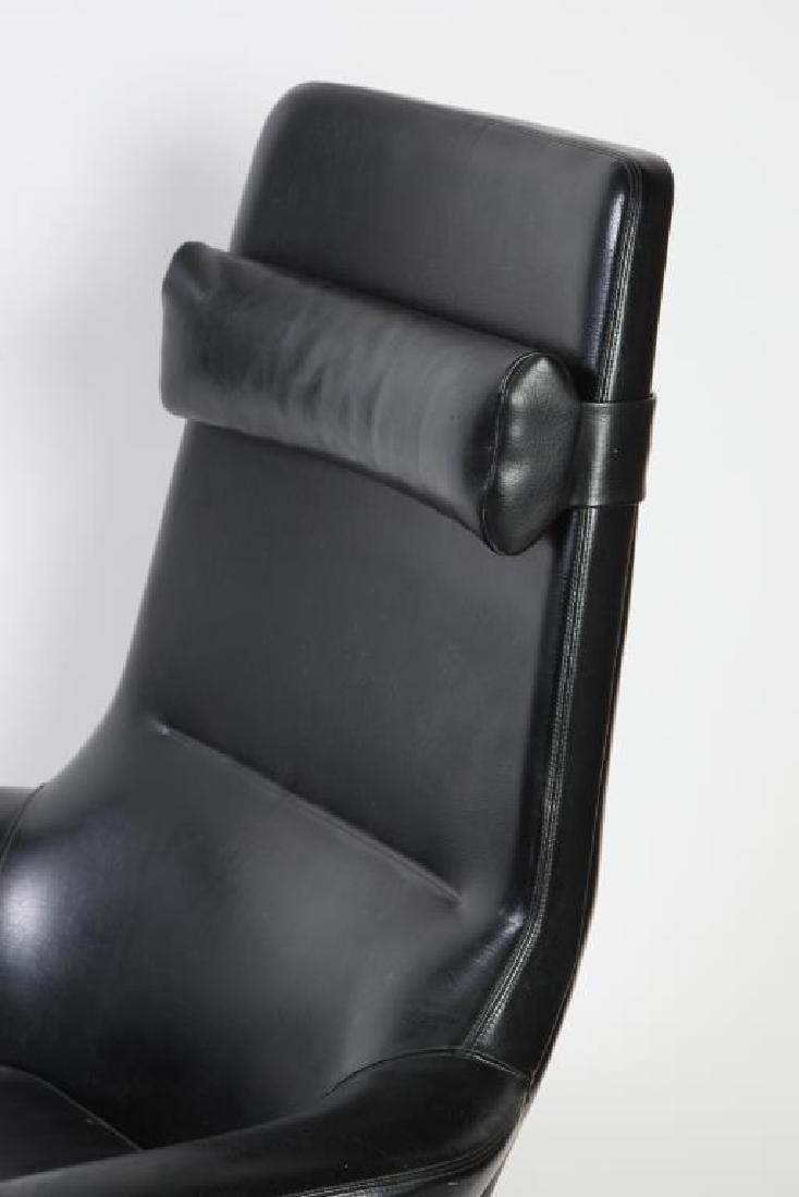1960's SIGNED DANISH MODERN RECLINER AND LEG REST - 6