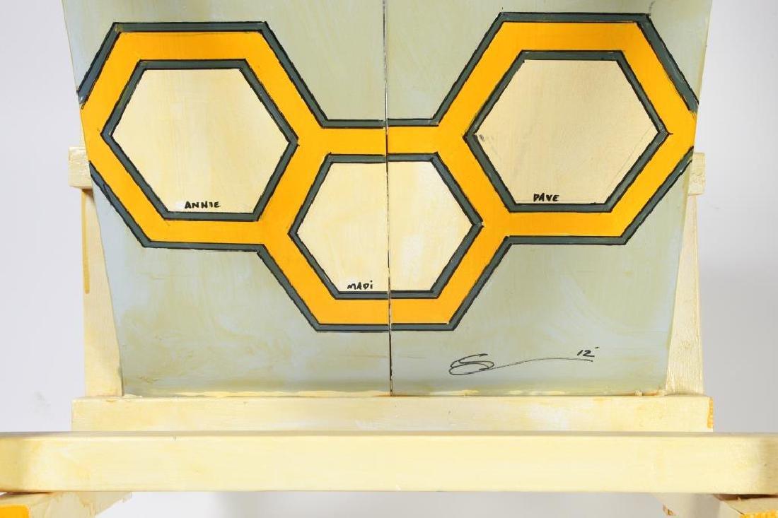 "MODERN ""BEE"" LOUNGE CHAIR signed MADI 40 1/2 x 28 1/2 x - 2"