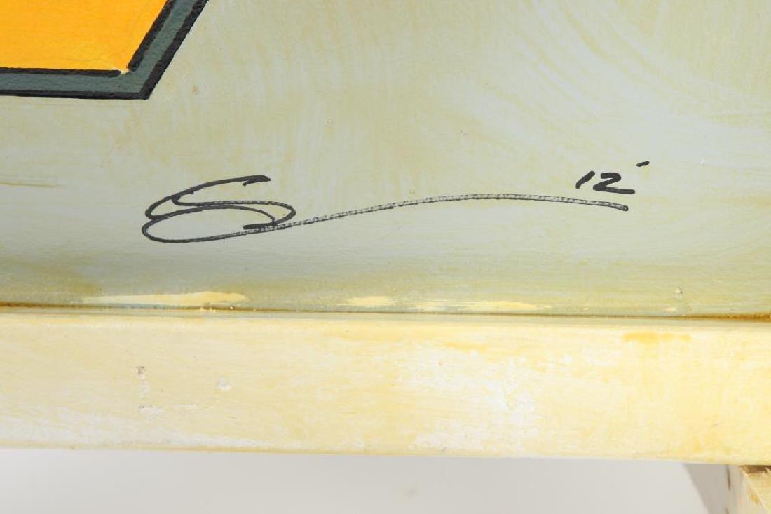"MODERN ""BEE"" LOUNGE CHAIR signed MADI 40 1/2 x 28 1/2 x - 9"