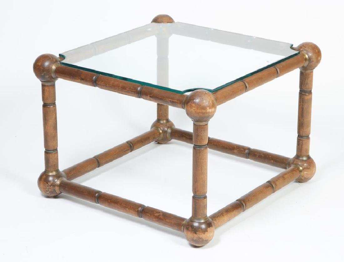 MID CENTURY MODERN FAUX BAMBOO END TABLE Nodes (sheath