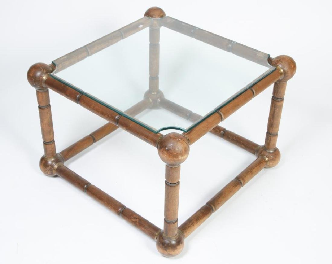 MID CENTURY MODERN FAUX BAMBOO END TABLE Nodes (sheath - 3