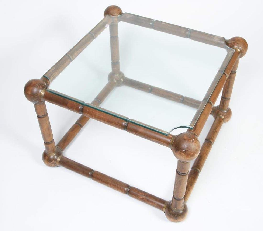 MID CENTURY MODERN FAUX BAMBOO END TABLE Nodes (sheath - 5