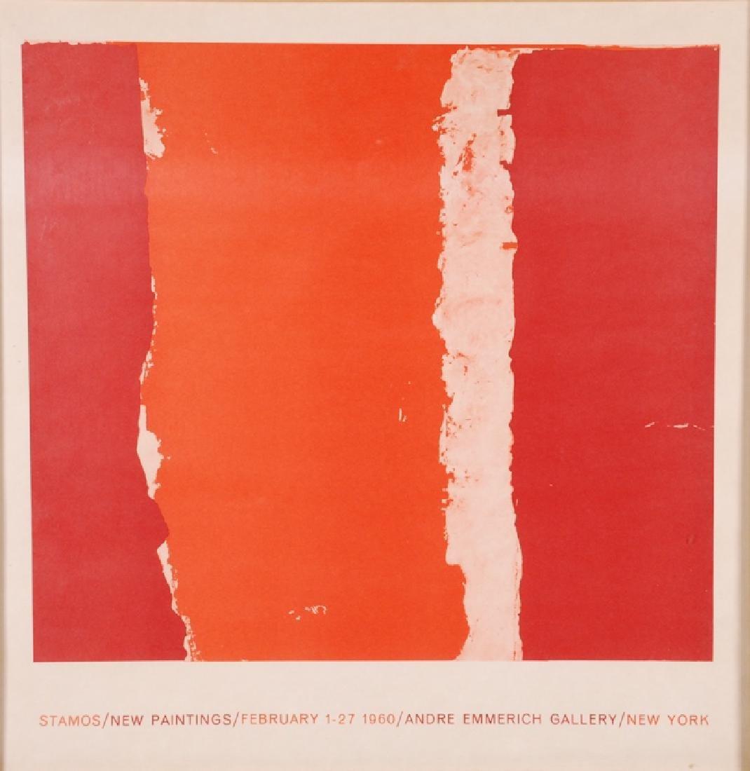 """THEODOROS STAMOS (1922-1997) """"Stamos/ New Paintings/"""