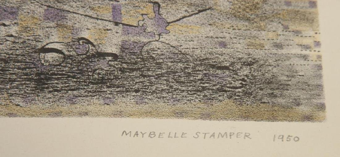 "MAYBELLE STAMPER (1907-1995) Two Works ""Imaginary - 6"