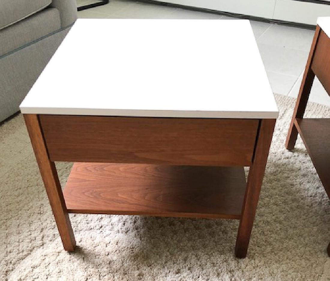 PAIR OF FLORENCE KNOLL END TABLES 18 x 19 1/2 x 19 1/2 - 4