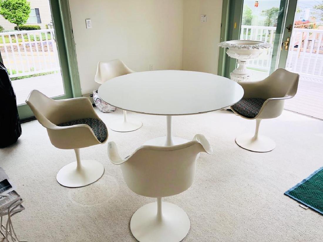 EERO SAARINEN TULIP TABLE and CHAIRS - 2