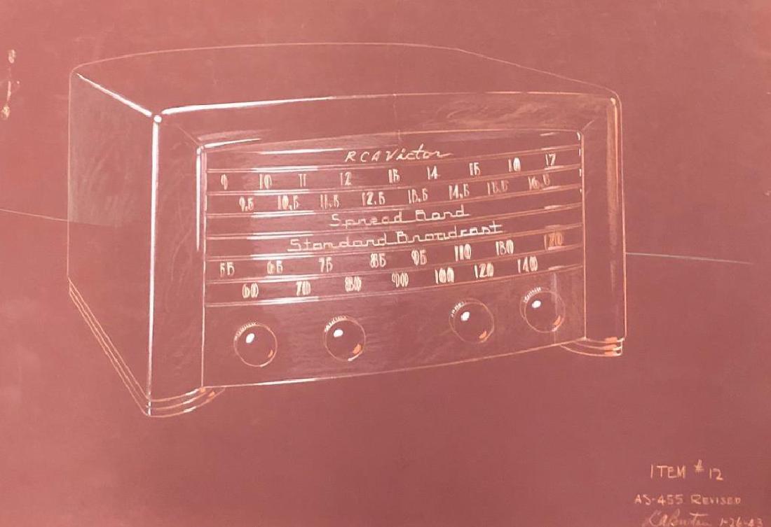 "(3) RCA VICTOR MID-MODERN RADIO CONCEPT PAINTINGS ""RCA - 2"