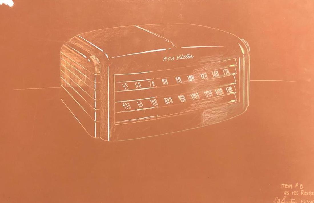 "(3) RCA VICTOR MID-MODERN RADIO CONCEPT PAINTINGS ""RCA - 3"