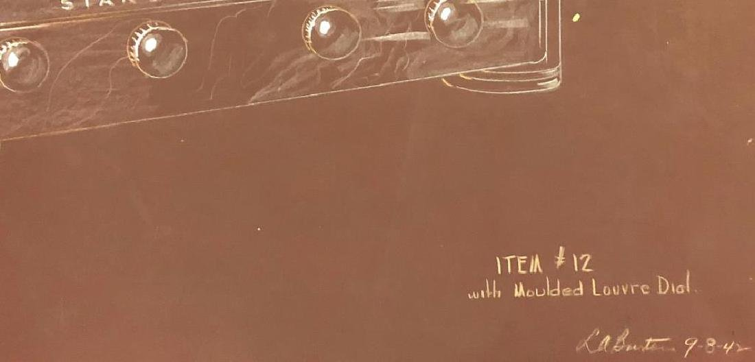 "(3) RCA VICTOR MID-MODERN RADIO CONCEPT PAINTINGS ""RCA - 4"