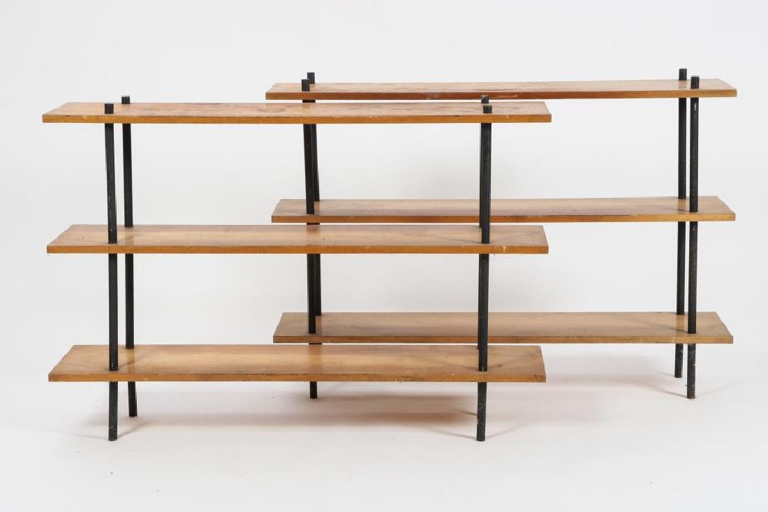 (2) MATHCING MID CENTURY MODERN SHELVES c 1960 33 x 48