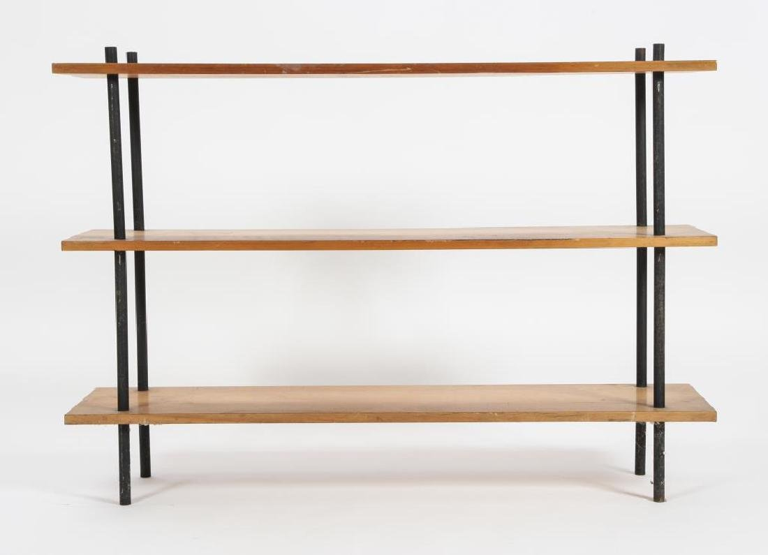 (2) MATHCING MID CENTURY MODERN SHELVES c 1960 33 x 48 - 2