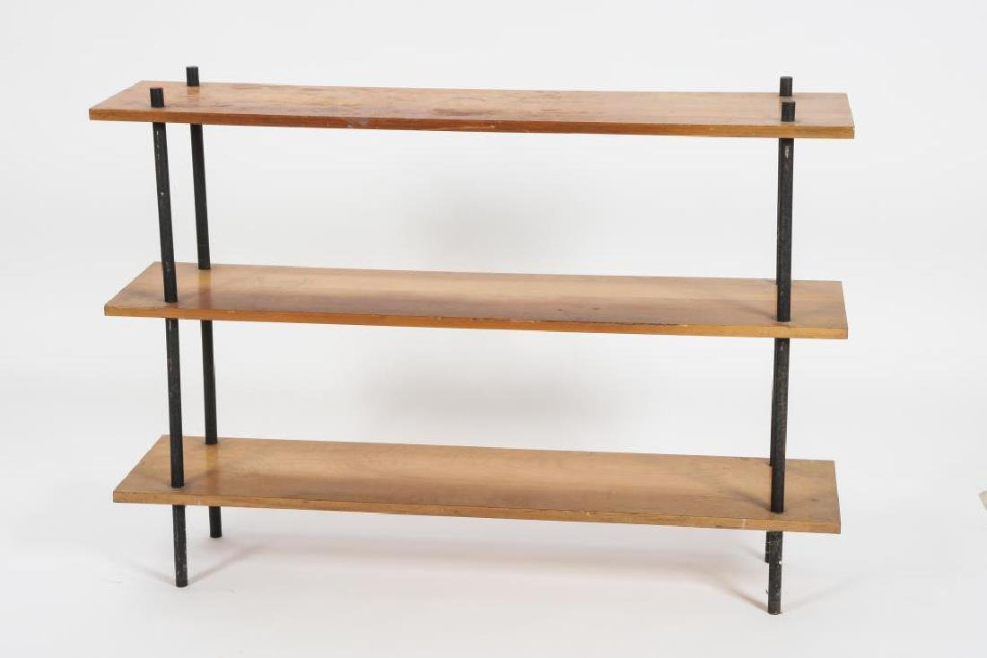 (2) MATHCING MID CENTURY MODERN SHELVES c 1960 33 x 48 - 4
