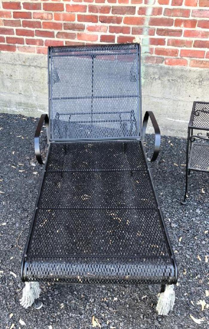 MID-CENTURY WROUGHT IRON PATIO FURNITURE Including: - 6