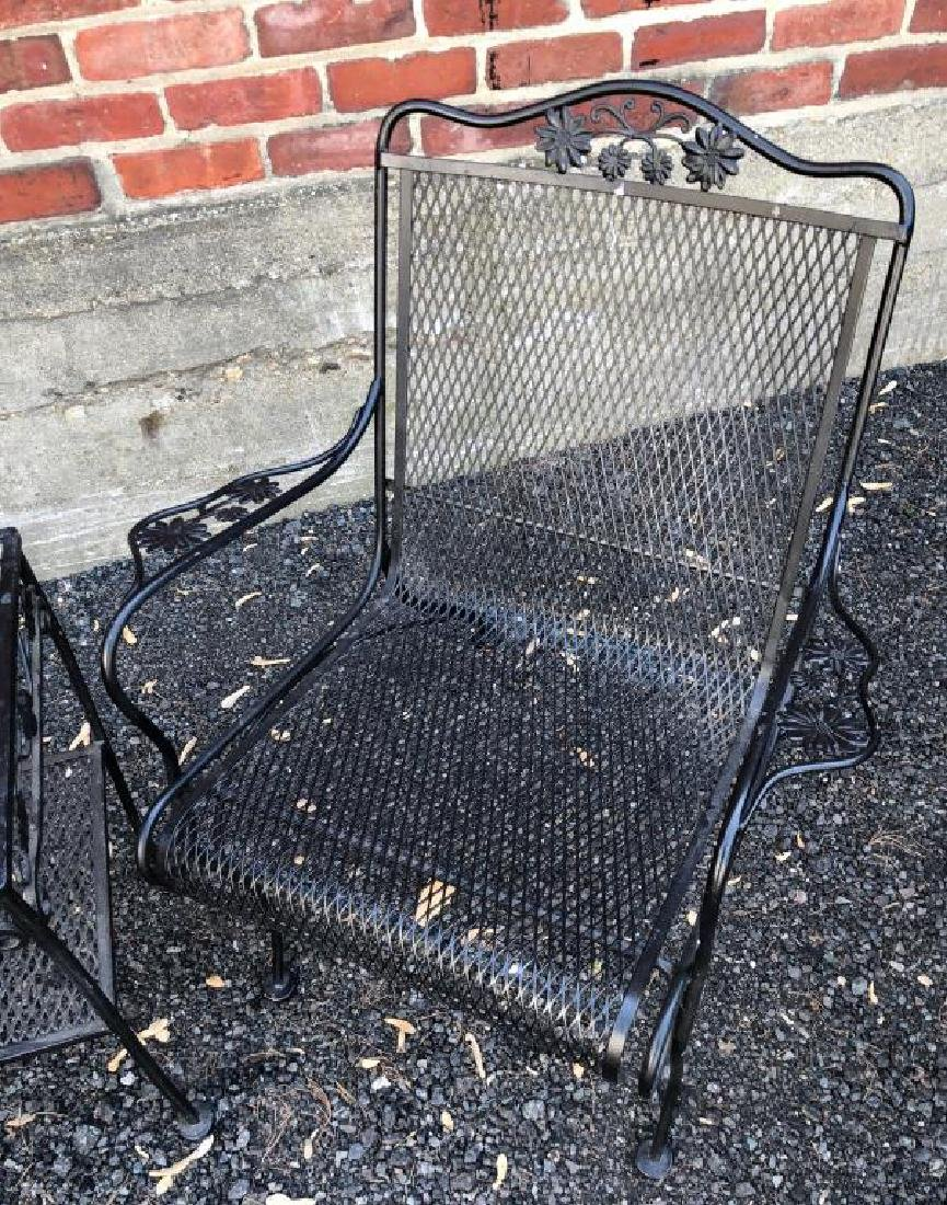MID-CENTURY WROUGHT IRON PATIO FURNITURE Including: - 8