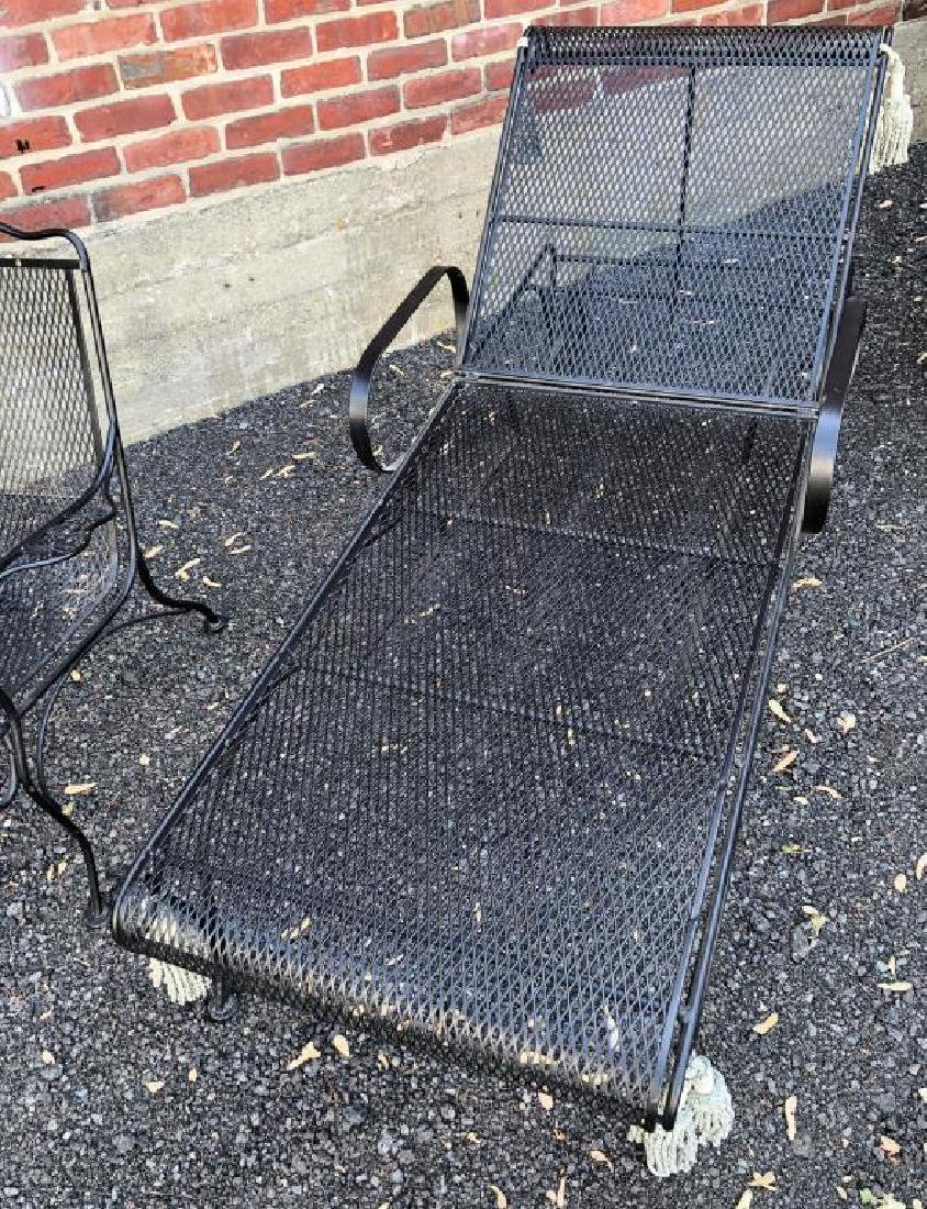 MID-CENTURY WROUGHT IRON PATIO FURNITURE Including: - 9