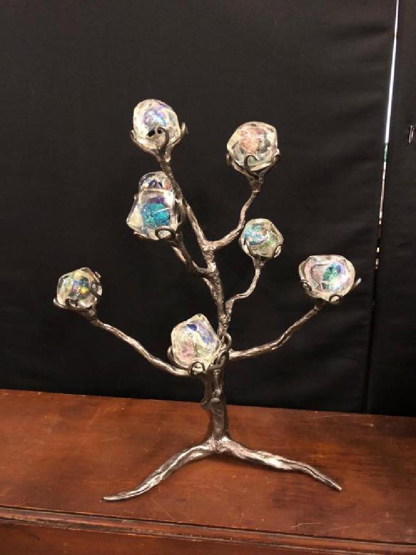 (8) EIGHT ARTISAN HAND BLOWN IRIDESCENT GLASS CUBES