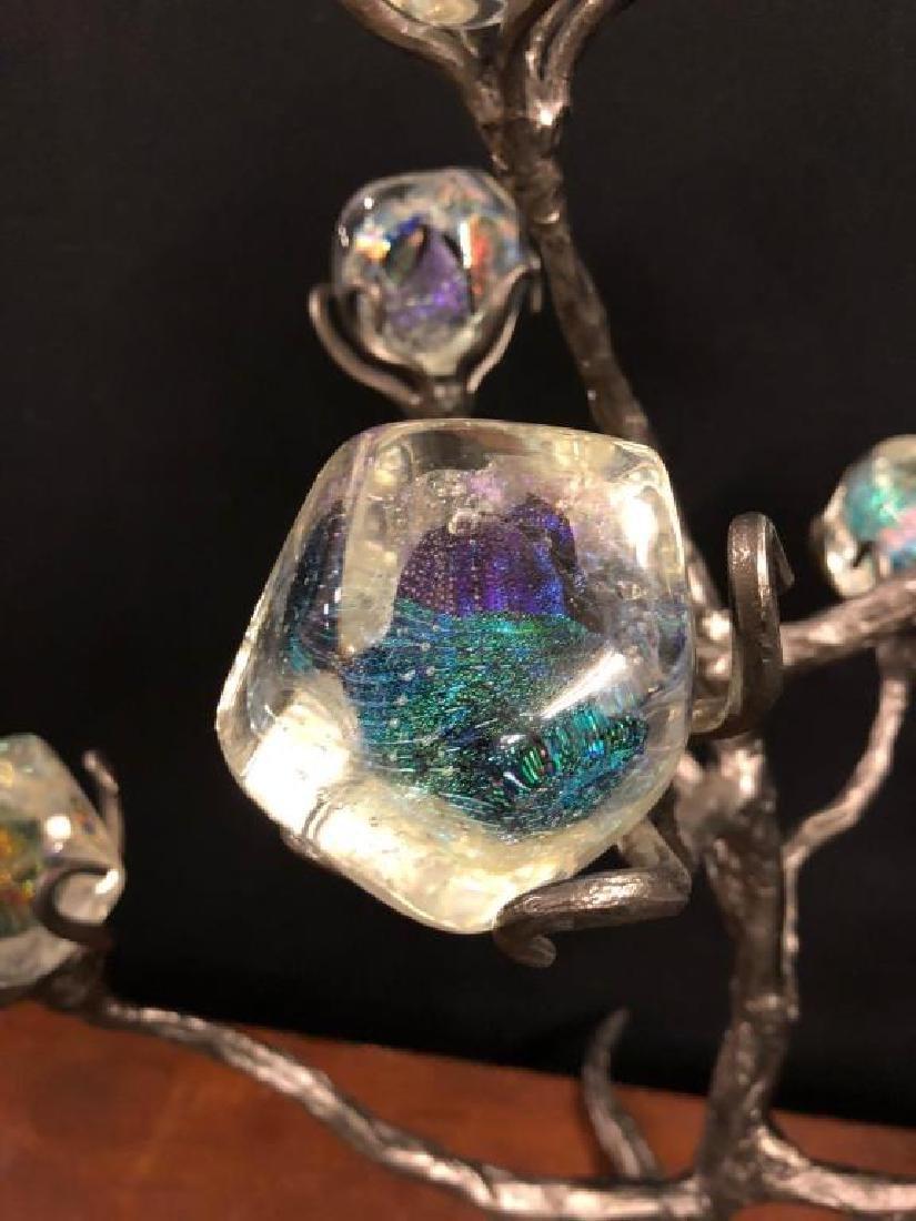 (8) EIGHT ARTISAN HAND BLOWN IRIDESCENT GLASS CUBES - 3