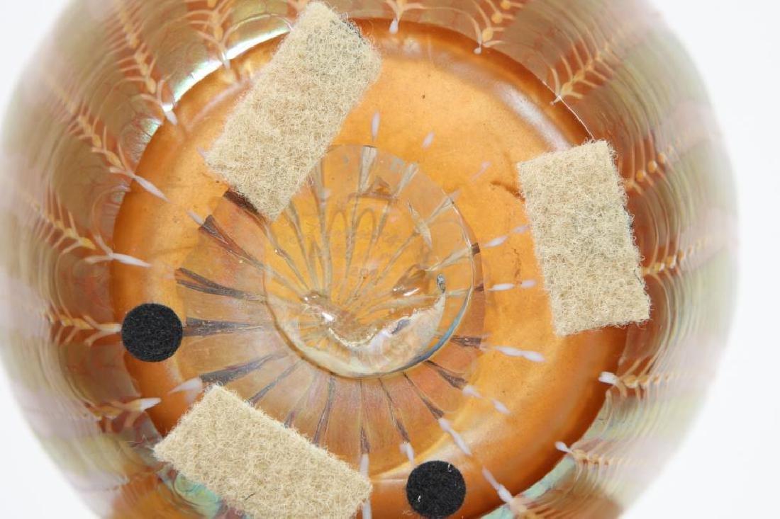 LUNDBURG STUDIOS IRIDESCENT ART GLASS VASE 20 inches - 3