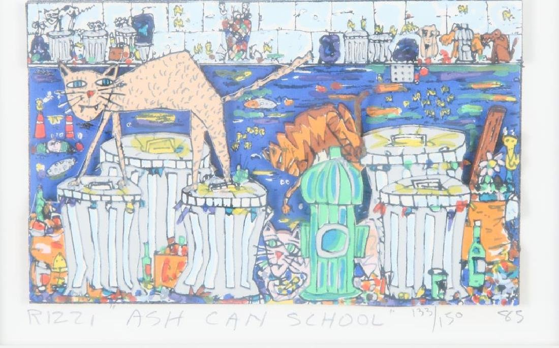 "JAMES RIZZI (1950-2011) ""Ash Can School"" mixed media 3"