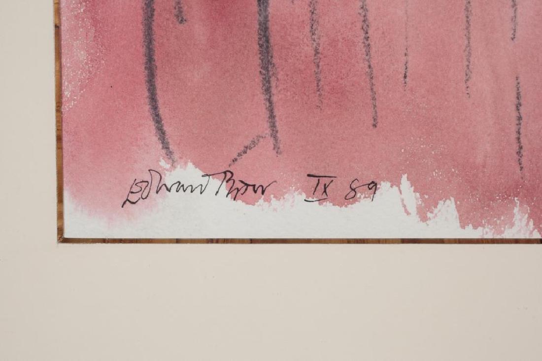 """EDWARD PIPER (1938-1990) """"Girl in Black"""" watercolor / - 2"""