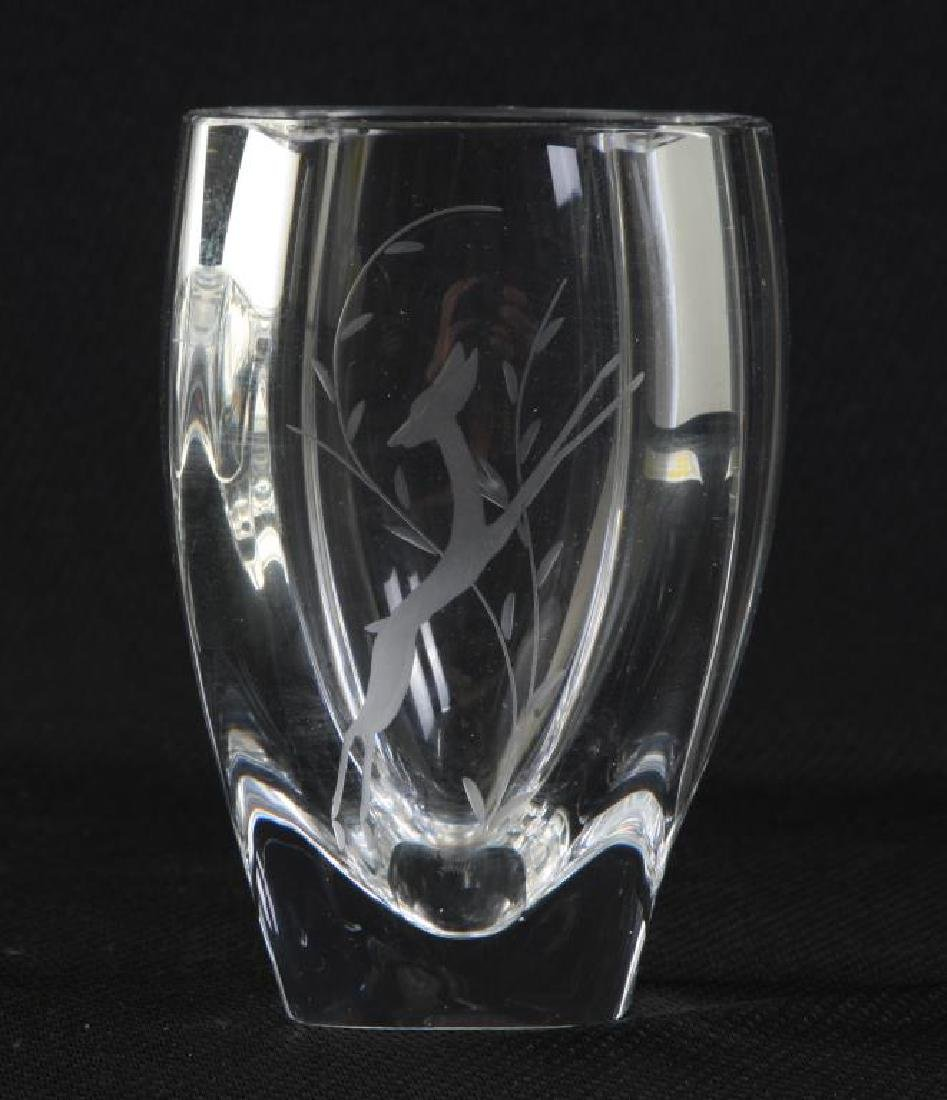 STEUBEN CRYSTAL VASE and a SECOND SIGNED EXAMPLE - 3