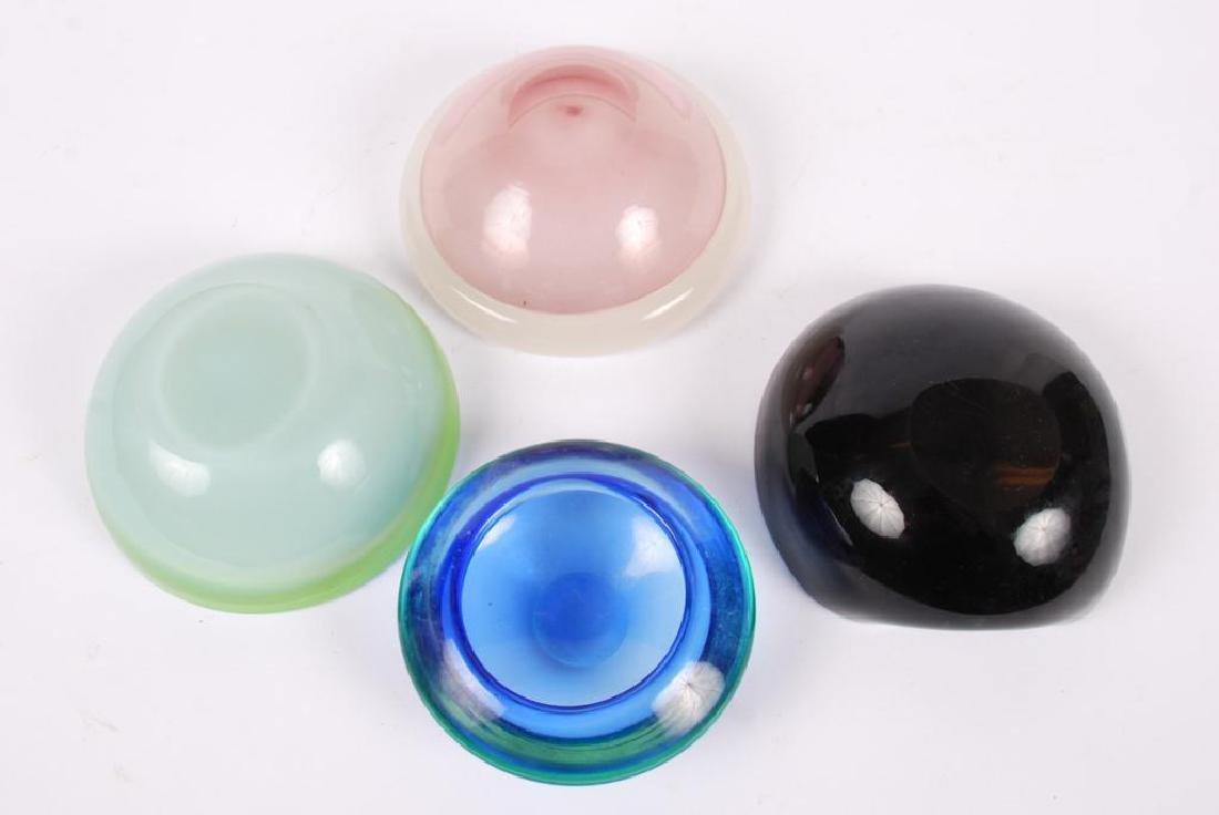 (4) MID CENTURY ART GLASS BOWLS POSSIBLY MURANO - 2