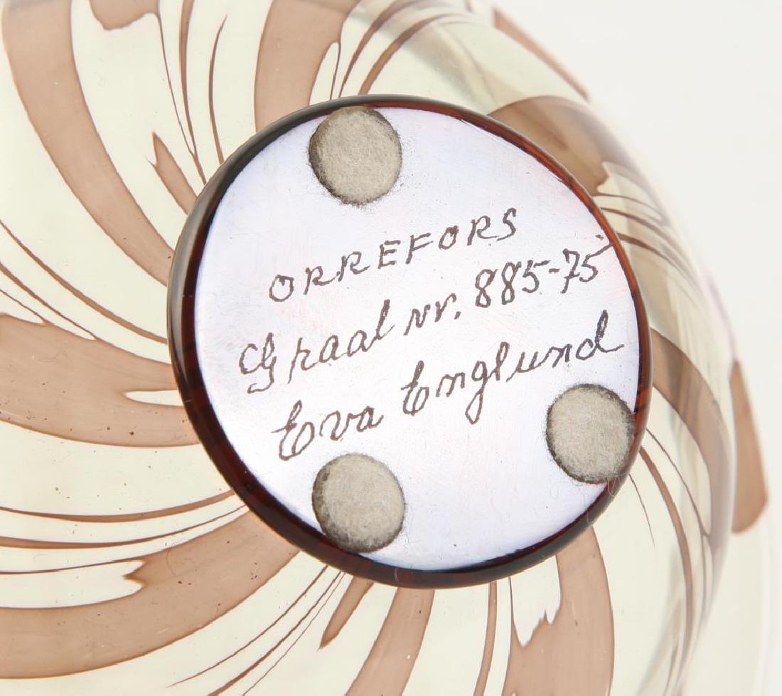ORREFORS S.GRAAL BOWL SIGNED EDWARD HALD Swirled bowl - 2