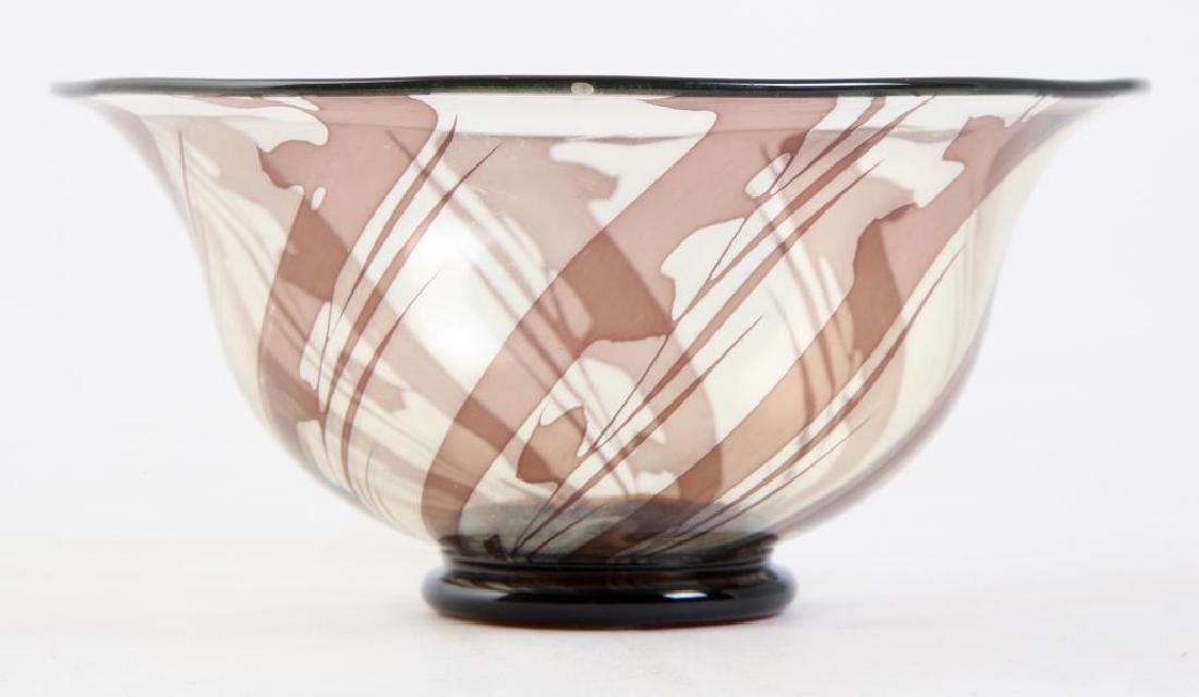 ORREFORS S.GRAAL BOWL SIGNED EDWARD HALD Swirled bowl - 3